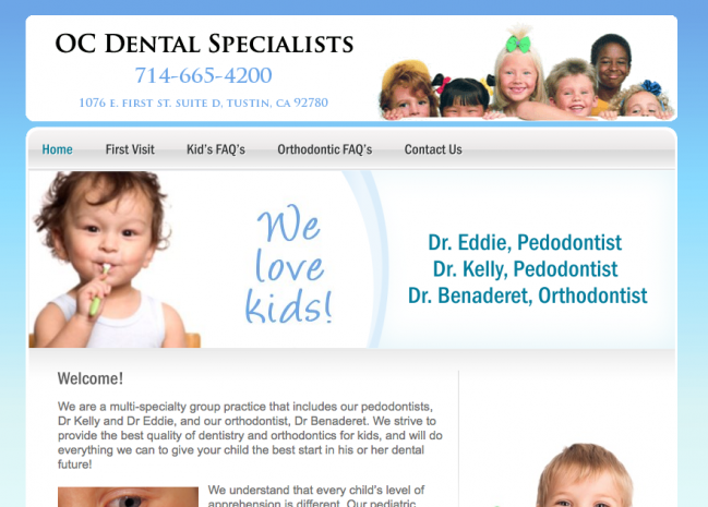 OC Dental Specialists Website Design