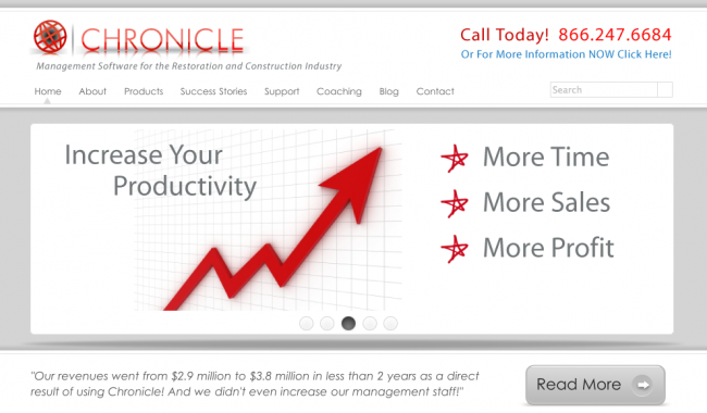 Chronicle Website Design