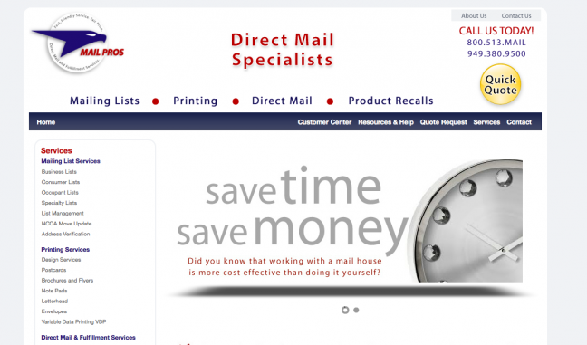 Mail Pros Website Design