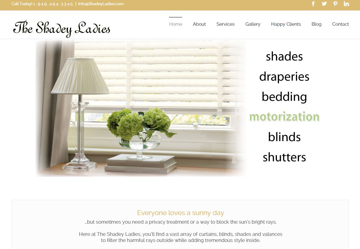 The Shadey Ladies Website Design