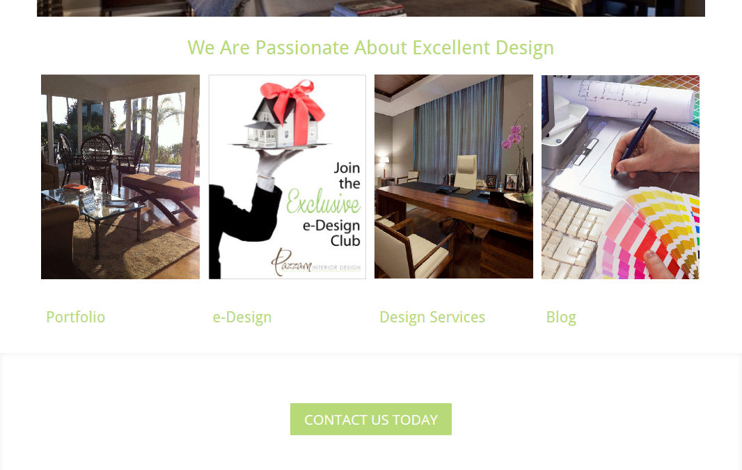 Pazzam Interior Design Website Design